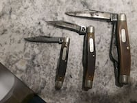 3 old timer knives. Made in usa Haw River