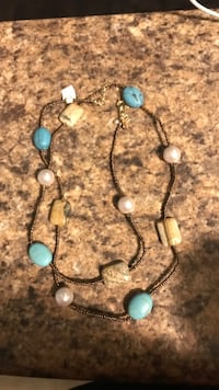 Two black and blue beaded necklaces Brooklyn Park, 55444