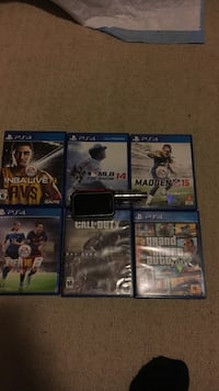four Sony PS4 game cases(look on top of games) Kitchener, N2A