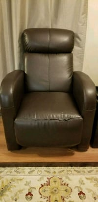 Reclining faux leather chair  Port Coquitlam