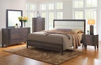white wooden bed frame with white mattress Roslyn Heights, 11577