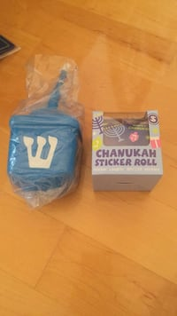 New lot of Chanukah items. Dreidel cup and Chanukah sticker roll. Hard to find items at great prices! Laval, H7Y 2C1