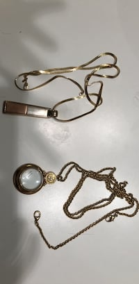 Long gold colored necklace with medallion Tuscaloosa, 35404