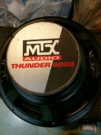 black and gray MTX Audio subwoofer Port Coquitlam, V3C 1Z8