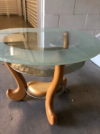Gorgeous Glass, Woo and Metal Side Table  Santa Clarita, 91355
