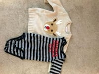 12 month old Christmas onesie and sweater Vienna, 22182