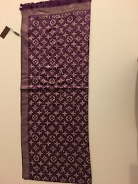 purple and brown Louis Vuitton Monogrammed scarf Brossard