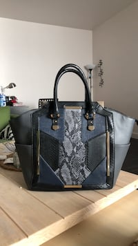 Black and gray leather tote bag Berkeley, 94702