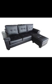 Brand New PU-Leather Sectional with Reversible Chase (Free Delivery in GTA) Toronto, M1J 3E7