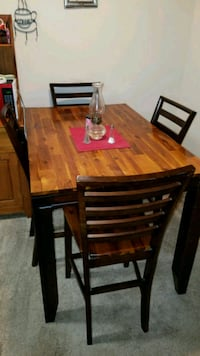 rectangular brown wooden table with six chairs dining set Winchester, 22601