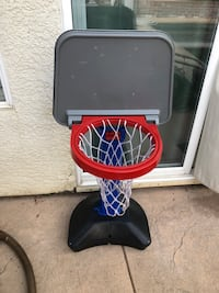 Kids Outdoor Basketball Hoop Childs Toy Adjustable Height