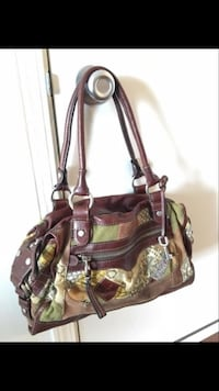 Fossil leather and canvas purse Portage, 49024