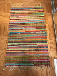 Colorful and cute woven rug