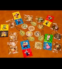 SuperMario Coin Collectibles 14coins/4coin keychains/10 stickers