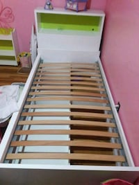 white and brown wooden bed frame Colorado Springs, 80918