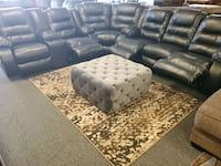 Black - chocolate leather sectional available recl Jacksonville, 32246