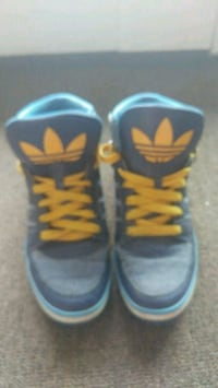 pair of blue-and-yellow shoes Hamilton