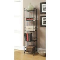 Convenience Concepts Designs2Go Metal Folding 5 Shelf Bookcase New Britain