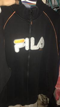 black FILA zip-up jacket
