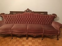 Sofa with real wood ( we don't provide transportation) Laval, H7M 5C1