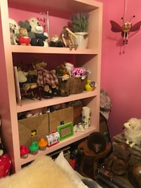 Ikea light pink bookshelf (toys not for sale) Toronto, M2R