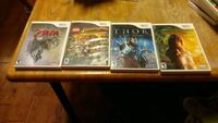 Four assorted WII games