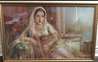 Mogul / Bollywood Art work / Portrait / Painting Framed / India