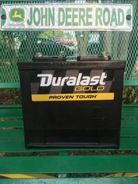 black and gray Duralast car battery Irving, 75062