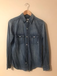 TNA from Aritzia Denim Shirt