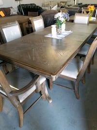7 pc DINING table chairs  Las Vegas, 89109