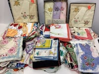 130 Vintage Assorted Handkerchiefs (new , N0A 1N6