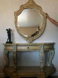 Luxury Entry Console Hall Table and Mirror Set Los Angeles, 91342