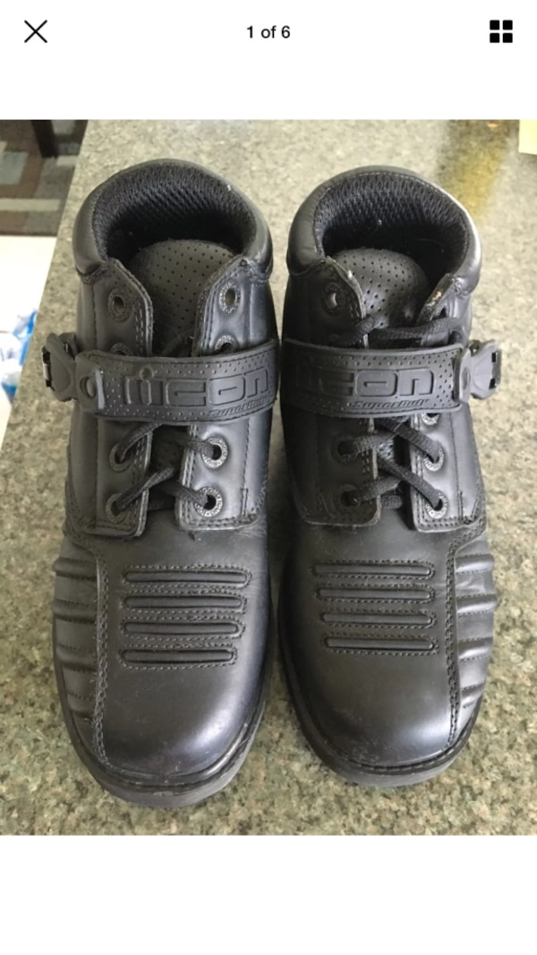 Used Black Icon super duty motorcycle riding boots for sale in Palm Bay -  letgo