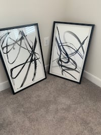Abstract framed wall pictures (2) Sterling, 20171