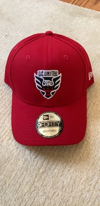 Red and white D.C United Hats Arlington, 22207