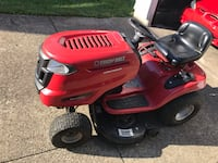 """Red and black troy-bilt riding mower 42 inch"""" , 45015"""