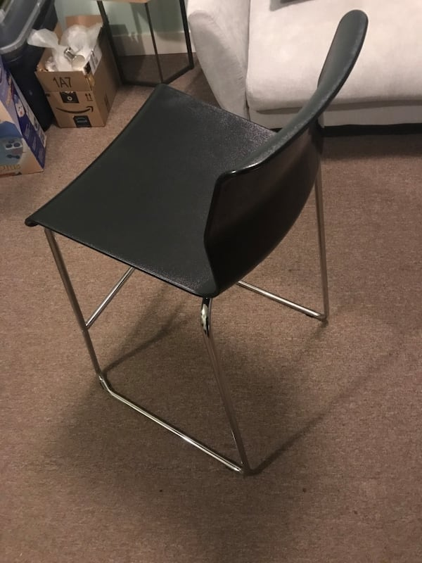 Volfgang ikea bar stool with backrest 2