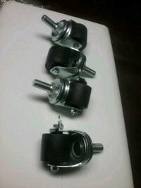 L casters ..... commercial quality    selling in sets of 4 ..... brake Fallston, 21047