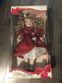 Vintage 1997 Victorian Bows Porcelain Doll MIB Richmond, V6Y