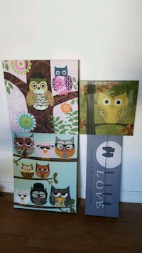 Canvas owl wall art  San Mateo, 94403