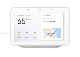 Google Nest Hub in chalk
