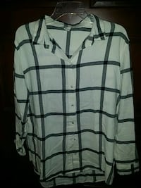 H&M flannel blouse sz 14 worn once.