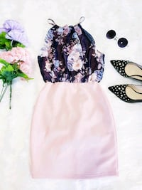 women's white and black floral dress Ontario, 91761