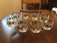 8 Mad Men Roly Poly Glasses with Caddy Markham, L3T 3L4