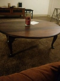 round brown wooden coffee table Tucson, 85706