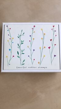 New Hero Arts Floral Set of Rubber Stamps