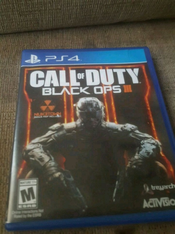 Ps4 call of duty black ops 3 game and case