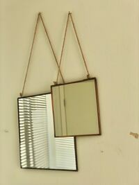 2 square brass Anthropologie mirrors - 8 and 12 inches Vancouver, V6B 0E7
