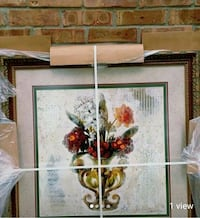 white and red flower painting Davison, 48423