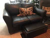 black leather 2-seat sofa Parkland, 33067